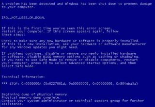 penyebab blue screen